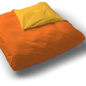 Play Basic Collection 104509.0 - Funda nórdica lisa reversible, 150 x 220 cm (para cama de 90 cm), color naranja caqui