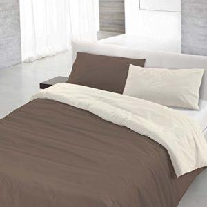 Italian Bed Linen Juego De Funda Nórdica Marrón/Nata Cama 80/95 (150 x 200 cm + 52 x 82 cm)