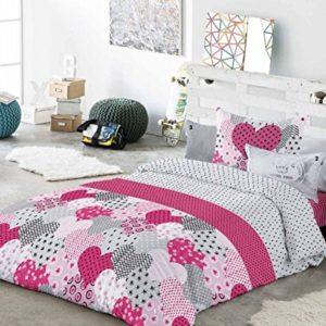 Antilo.- Funda nordica Nydia para cama de 90 cm + funda de cojin 60x60 cm