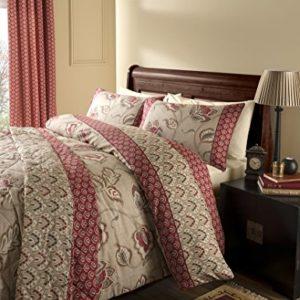 Catherine Lansfield Kashmir - Juego de cama (algodón de 200 hilos), matrimonio