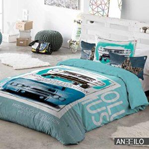 Antilo.- Funda nordica Hamilton para cama de 90 cm + funda de cojin 60x60 cm