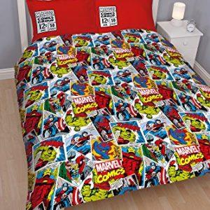Character World Marvel Comics Justice - Juego de ropa de cama de 91 cm, multicolor