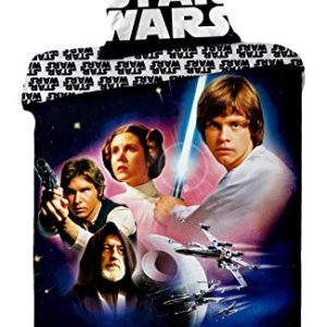 Jerry fabrics JF0126 juego de Star Wars 01, 1 x funda de edredón de/funda de almohada, 100 por ciento de algodón, 140 x 200 y 70 x 90 cm