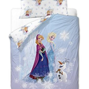Disney Frozen Friends - Funda nórdica de 3 piezas para cama de 90 cm