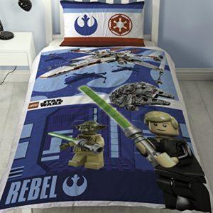 LEGO Star Wars batalla solo Panel de funda de edredón de polialgodón juego de cama reversible