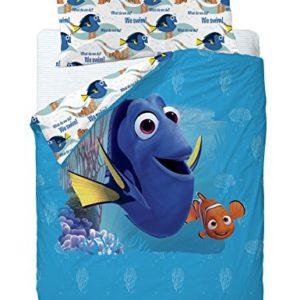 Disney Finding Dory Funda Nórdica, Algodón-Poliéster, Azul, Cama 80/95 (Twin), 200.0 x 90.0 x 25.0 cm, 3 Unidades