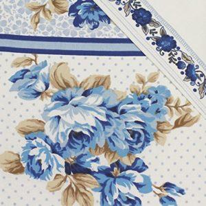 ¡Da un toque vintage a tu cama! Juego de funda nórdica y funda de almohada clásica, diseño de patchwork y puntitos, algodón poliéster, azul, marrón y blanco, suelto