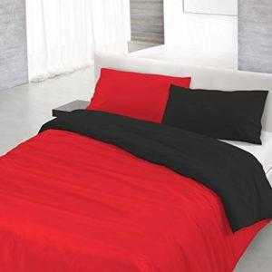 Datex Funda nòrdica Natural Color Rojo/Negro 1 plaza (150 x 200 + 52 x 82 cm)