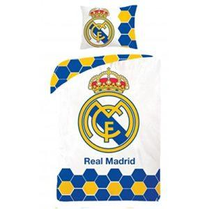FC Real Madrid Ropa de cama edredón y almohada (140x 200cm y 70x 90cm