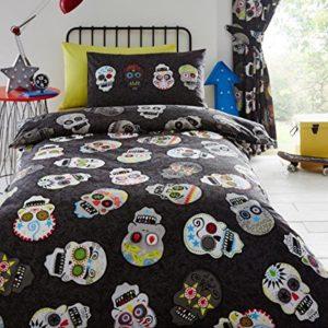 Azúcar de calaveras de los niños juego de cama individual COVET