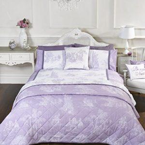 Estilo Vintage Lila Cama Individual Funda Nórdica y Funda de almohada juego de cama Ropa de cama Ropa de cama