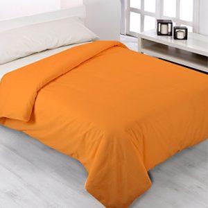 Fundas Nórdicas Lisas de todos los Colores - ENVÍO GRATUITO - Todas las Medidas - Fundas de edredónes de cama y colchas. (Cama de 90cm, Naranja)