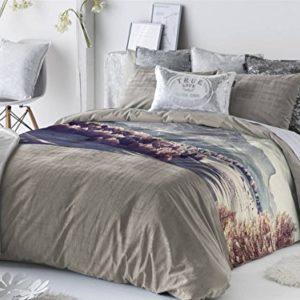 Antilo - Funda nórdica FATI cama 150 y dos fundas almohada 50x85 (Juego duvet 3 piezas con saco nórdico, cojines decorativos y funda de almohada)