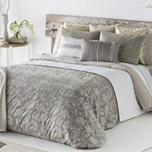 Antilo - Funda nórdica OLEA cama 150 y dos fundas almohada 50x85 (Juego duvet 3 piezas con saco nórdico, cojines decorativos y funda de almohada)