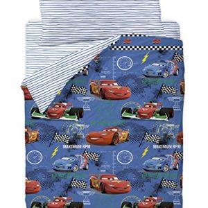 Disney Cars Maximum Funda Nórdica, Algodón-Poliéster, Azul, Cama 80/95 (Twin), 200.0x90.0x25.0 cm, 3 Unidades