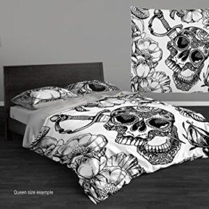 Azúcar calavera personalizadas personalizado juego de cama por Cool ropa de cama. Día De San Valentín ropa de cama 3o 4pc doble juego de cama de, Full, Queen, king size.