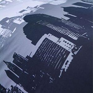 Catherine Lansfield City Scape - Funda nórdica y 2 fundas de almohada (230 x220 cm y 50x75cm), diseño de ciudad, multicolor