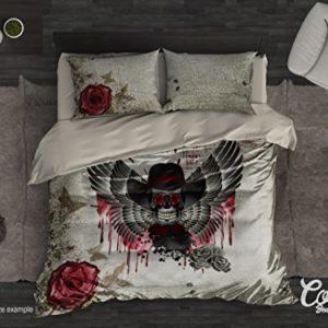 Azúcar calavera funda de edredón de cama de funda de edredón de juego por Cool estilo Vintage juego de 4pcs de 3o, gótico ropa de cama, día de los muertos, único, Twin, Full, Queen, king