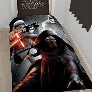 Character World 00001327Star Wars funda de edredón con almohada de algodón negro 140x 200cm/60x 70cm
