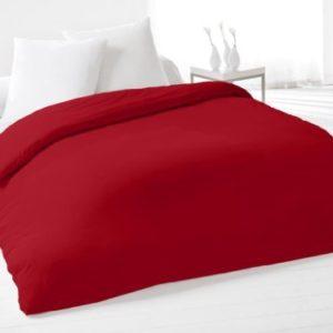 Funda de edredón lisa 220x240 cm de algodón roja