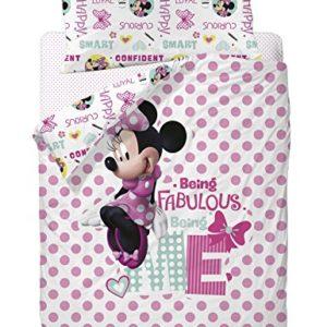 Disney Funda Nórdica para Cama Diseño Minnie, Algodón-Poliéster, Multicolor, Individual, 200x90x25 cm, 3 Unidades