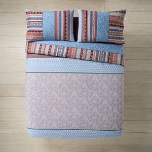 Bassetti Granfoulard.- Juego de funda nordica Portofino V6 Beige para cama de matrimonio 240 x 220 cm (4 piezas)