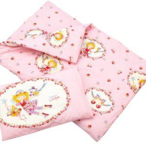 Bierbaum 2215_01 - Juego de funda nórdica, 100 x 135 cm, color rosa