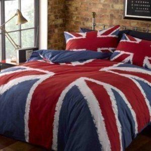 Bandera Británica Roja Blanca Azul individual conjunto de funda nórdica, mezcla de algodón