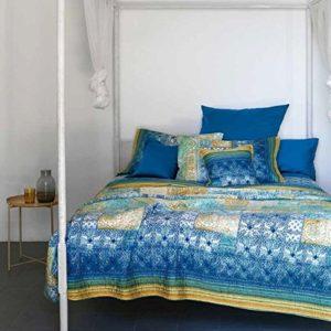 Bassetti Granfoulard.- Juego de funda nordica Vietri V3 Azul para cama de matrimonio 240 x 220 cm (4 piezas)