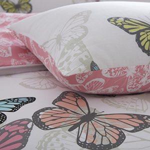 Calidad de Hotel Digitalmente Impreso nuevo mariposas juego de funda nórdica Reversiable con funda de almohada por mas internacional Ltd, algodón poliéster, doble