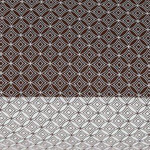 nimsay hogar cristiano impresión de estilo geométrico blanco y negro Reversible funda de edredón y funda de almohada Set, marrón/blanco, 135 x 200cm