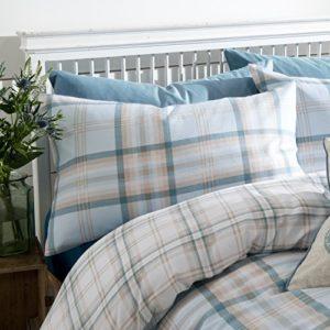 Catherine Lansfield CL Kelso Duckegg - Juego de funda nórdica para cama de 180 cm