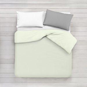 ADP Home - Funda nórdica Lisa, Calidad 144Hilos, 16 hermosos colores, cama de 150 cm - Beige