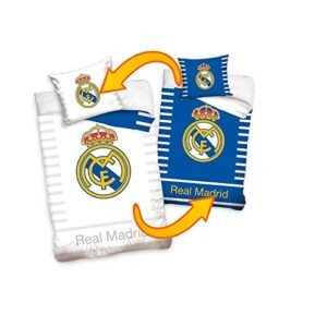 (RM16_1001) JUEGO FUNDA NÓRDICA Real Madrid REVERSIBLE 160 X 200 CM ( para cama de 90 X 200 cm) Y FUNDA COJÍN 70 X 80 CM (RM16_1001)