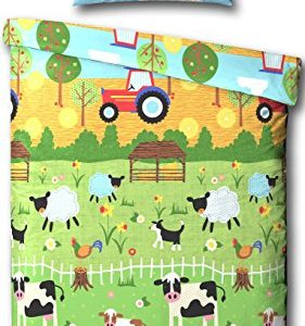 Farmyard Animals Junior Bed/Toddler Bed Duvet Cover Bed Set - Including Matching Pillowcase by Samantha George