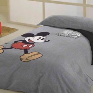 Disney Juego de Funda Nórdica Mickey Vintage Gris Cama 105