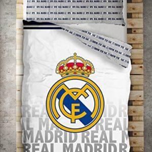 Funda Nordica 2 Pzas. Real Madrid Emblema (Cama 90 cms., Color Unico)