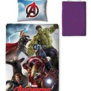 Character World Disney Marvel Avengers Edad de Ultron Juego de funda de edredón