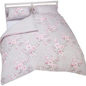 Catherine Lansfield Canterbury - Funda nórdica + funda de almohada para cama de 150 cm