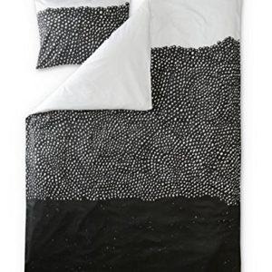 Finlayson Kuru satinado Juego de funda nórdica y funda de almohada, algodón, color blanco y negro, 150x 210cm