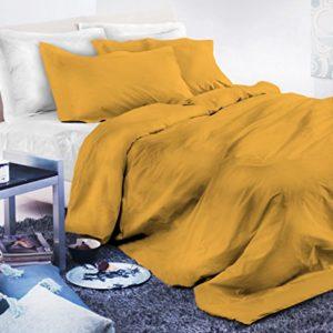 Elegant cp-el-giallo-2pst Juego Funda Nórdica, microfibra, amarillo, matrimonio, 200x 250x 1cm, 3Unidad