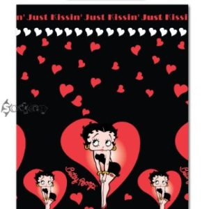 Betty Boop besando corazones Duvet Single Bed Set