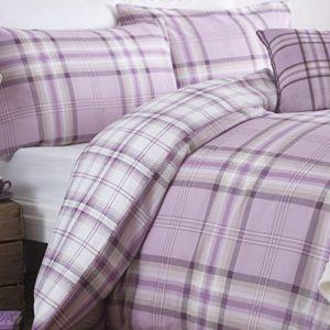 Catherine Lansfield CL Kelso Lilac - Juego de funda nórdica para cama de 180 cm