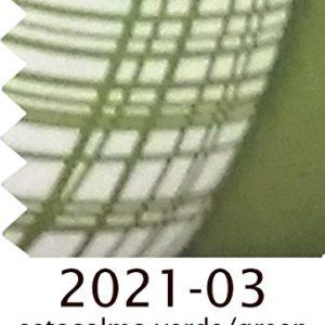 Nórdico Estocolmo reversible cuadrito / liso, 300gr/m2 (duvet reversible) - cama individual 90cm - color verde