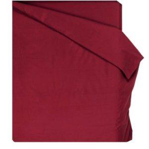 Home Royal - Funda nórdica lisa de 190 x 260 cm, para cama de 105 cm, color burdeos