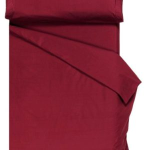 Home Royal - Juego de funda nórdica, 220 x 260 cm, bajera ajustable, 135 x 200 cm, funda para almohada, 45 x 155 cm, color burdeos