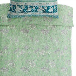 Bassetti Granfoulard.- Conjunto de funda nordica Jasmine color V2 verde para cama de 180 (270x240 cm)