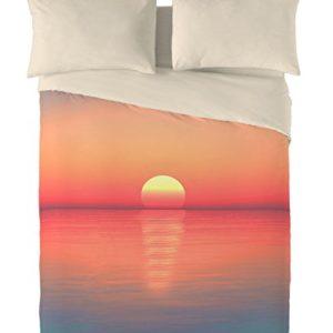 NATURALS Juego De Funda Nórdica Sunset Naranja / Crudo Cama 150 (240 x 220 cm + 2/45 x 90 cm)