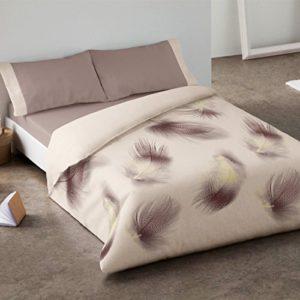 Burrito Blanco - Juego de funda nórdica 341 Beige, para cama de 105 x 190/200 cm.
