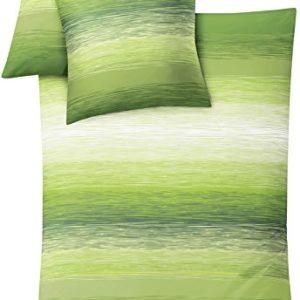 Kleine Wolke 6176625952 - Juego de fundas para edredón, 135 cm x 200 cm, color verde